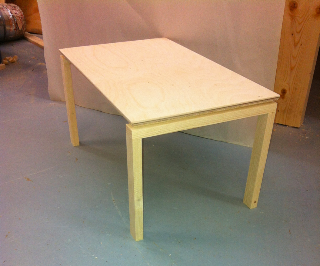 Scale model of dining table